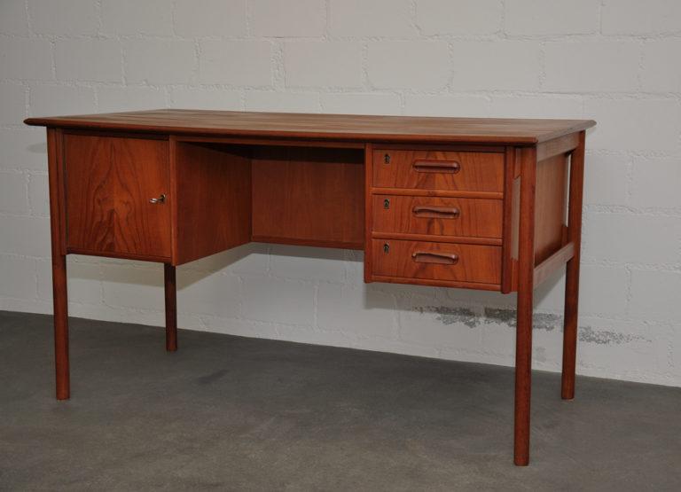 Teakholz Schreibtisch von Gunnar Nielsen – Tibergaard