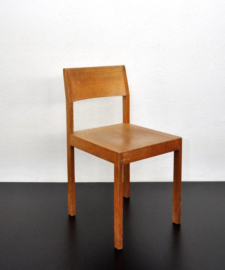 Sechs Holzstühle von Willy Guhl