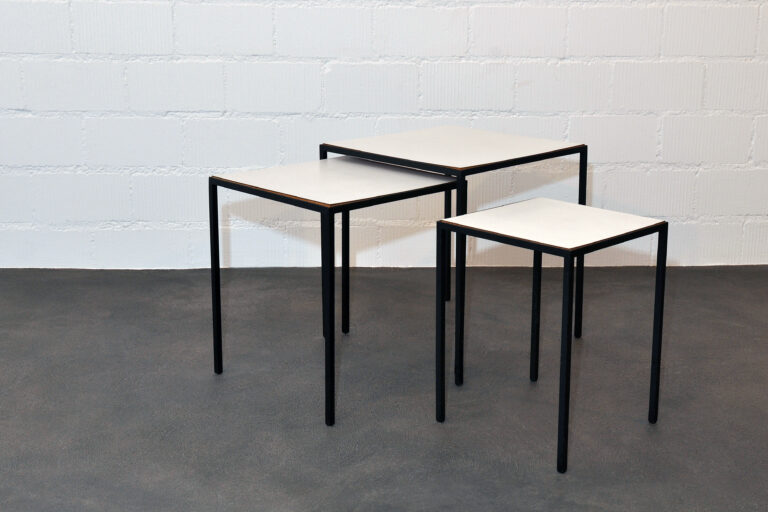 3er Set Beistelltische Stil Florence Knoll